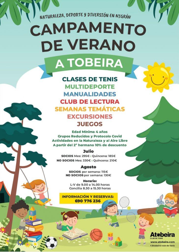 Campamento de verano en A Tobeira Club de Tenis (Nigrán)